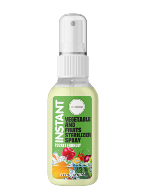 Instant Vegetable and Fruits Sterilizer Spray, 60ml (Pack of 2)