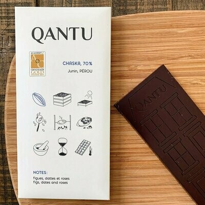 Qantu Chaska 70% Single Origin Craft Chocolate Bar