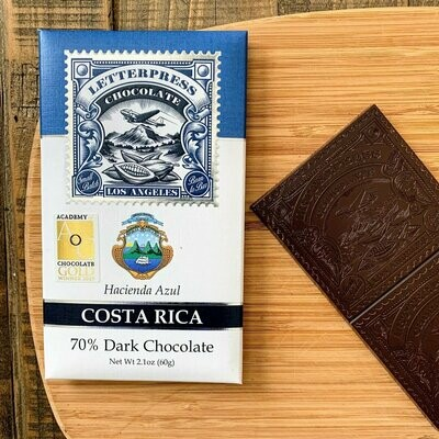 LetterPress Chocolate Costa Rica 70% Dark Chocolate