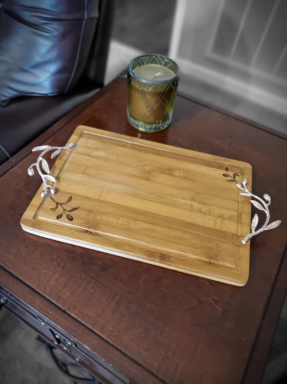 Olive Branch Bamboo Serving Platter