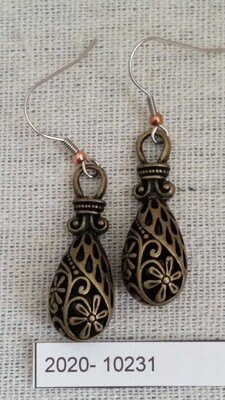 Bronze Hollow Drop Earrings
