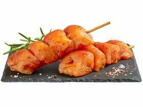 Brochettes de poitrine de poulet