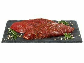 Steak d'autruche mariné