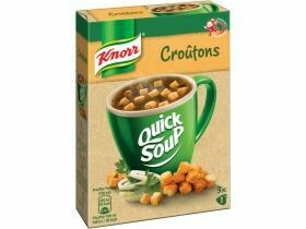 Soupe rapide de Knorr ( Flädli, croûtons, tomate, champignon ) 34g-56g