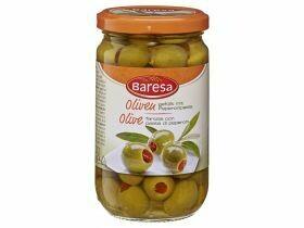Olives vertes farcies à la pâte de  pepperoni 314ml