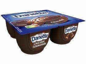 Danone Danette pudding Chocolat / Vanille 4x125g