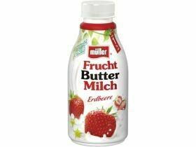 Lait au beurre de fruits Müller divers types 500g