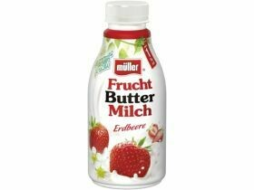 Lait au beurre de fruits Müller divers types 500g