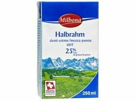 Demi-crème 25% UHT 250ml