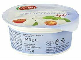 Mini boules de mozzarella classique / léger 125g