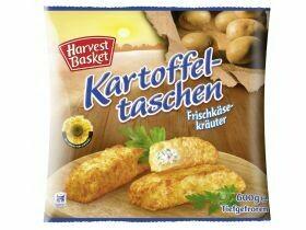 Poches remplies de pommes de terre Mozzarella aux épinards, herbes au fromage à la crème 600g
