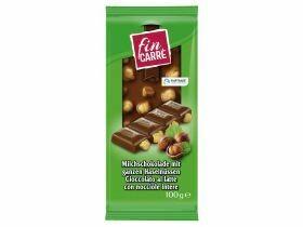 Noisettes entières au chocolat au lait 100g