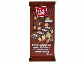 Tablette de chocolat aux noix entières blanc foncé 100g
