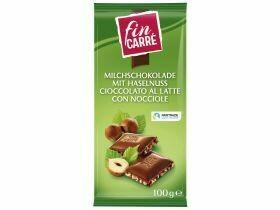 chocolat au lait aux noisettes hachée 100g