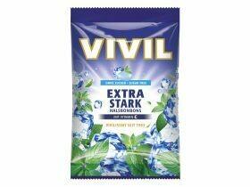 Bonbons Vivil sans sucre divers types 125g