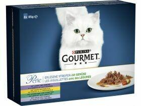 Nourriture gourmande pour chats en sauce Viande poisson 8x85g