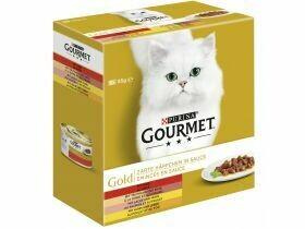 Nourriture gourmande pour chat en or Pâté / apéritif en sauce 8x85g