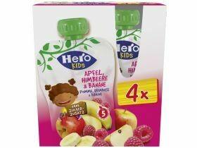 Hero Kids Smoothie Pomme, framboise et banane 4x120g