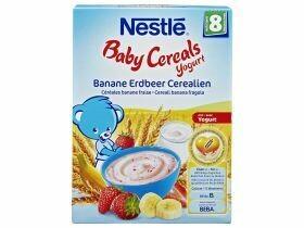 Nestlé Yogourt aux céréales pour bébés Céréales banane et fraise 250g