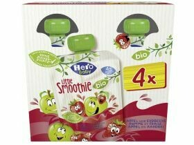 Hero Baby Bio Little Smoothie Pomme et fraise 4x90g