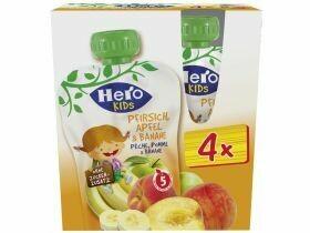Hero Kids Smoothie Pêche, pomme et banane 4x120g