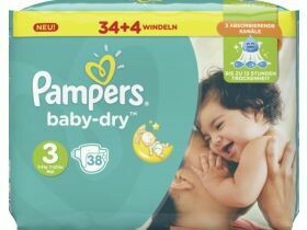 Couches Pampers Baby Dry Midi 38 pièces