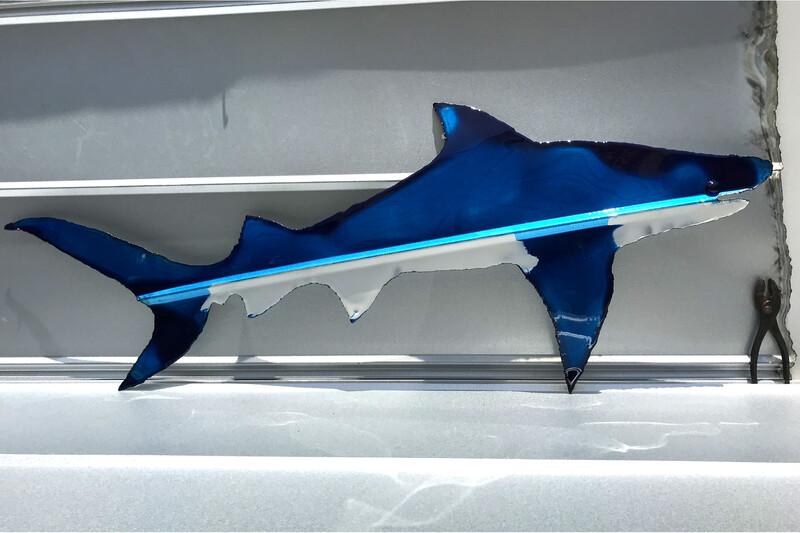 "Sharks (47""x19"")"
