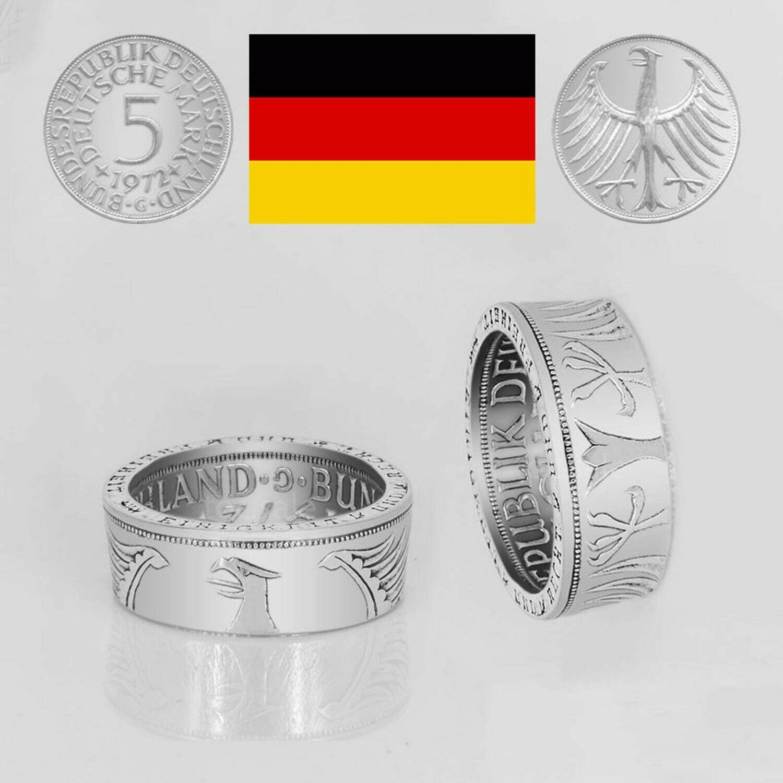 Ring 5 DM |  Adler außen - 1951 – 1974