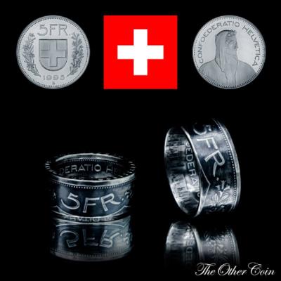 Ring 5 Schweizer Franken 900 Silber
