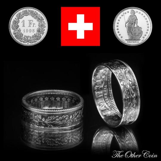 Ring 1 Schweizer Franken 835 Silber