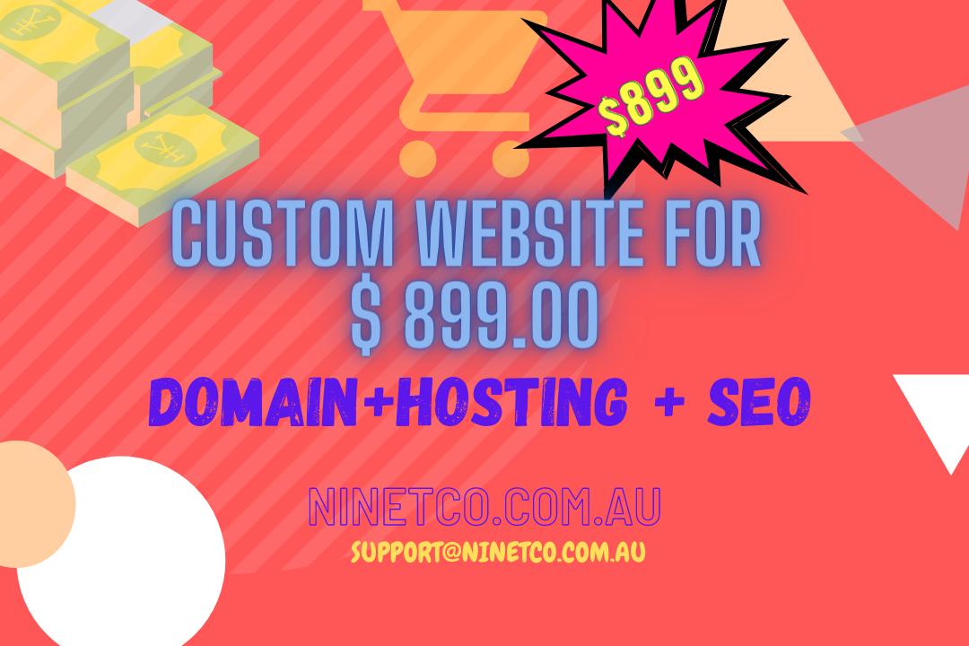 Custom Website for $ 899.00 - Complete Website Package