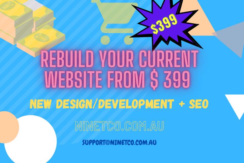 Website rebuild from $399.00