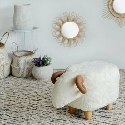 Le mouton blanc tabouret déco
