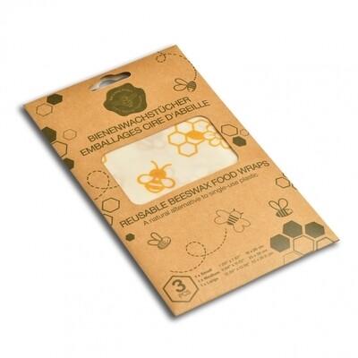 Emballages réutilisables en cire d'abeille 3 pces