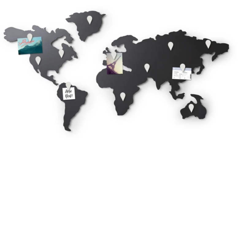 Carte du monde murale en titane