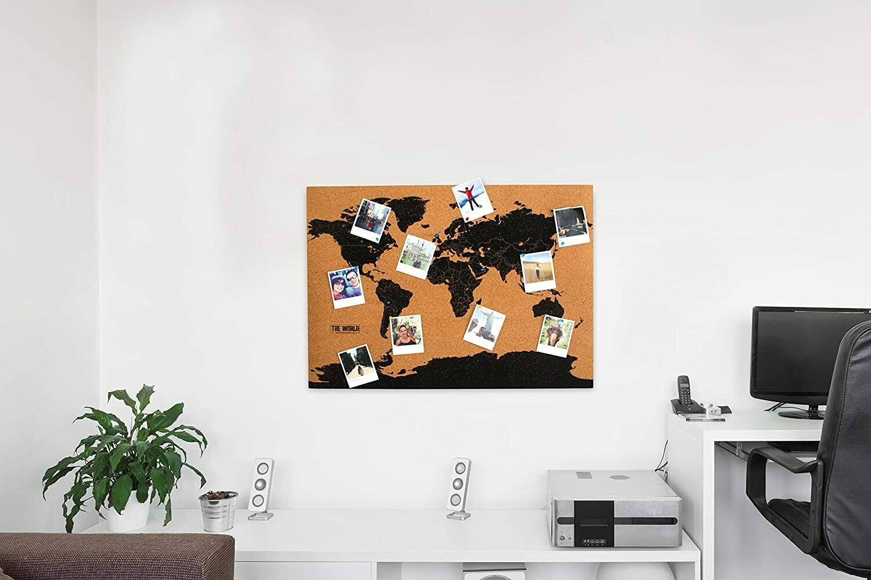 La carte du monde en liège
