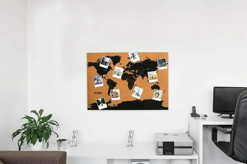 La carte du monde en liège ♥️
