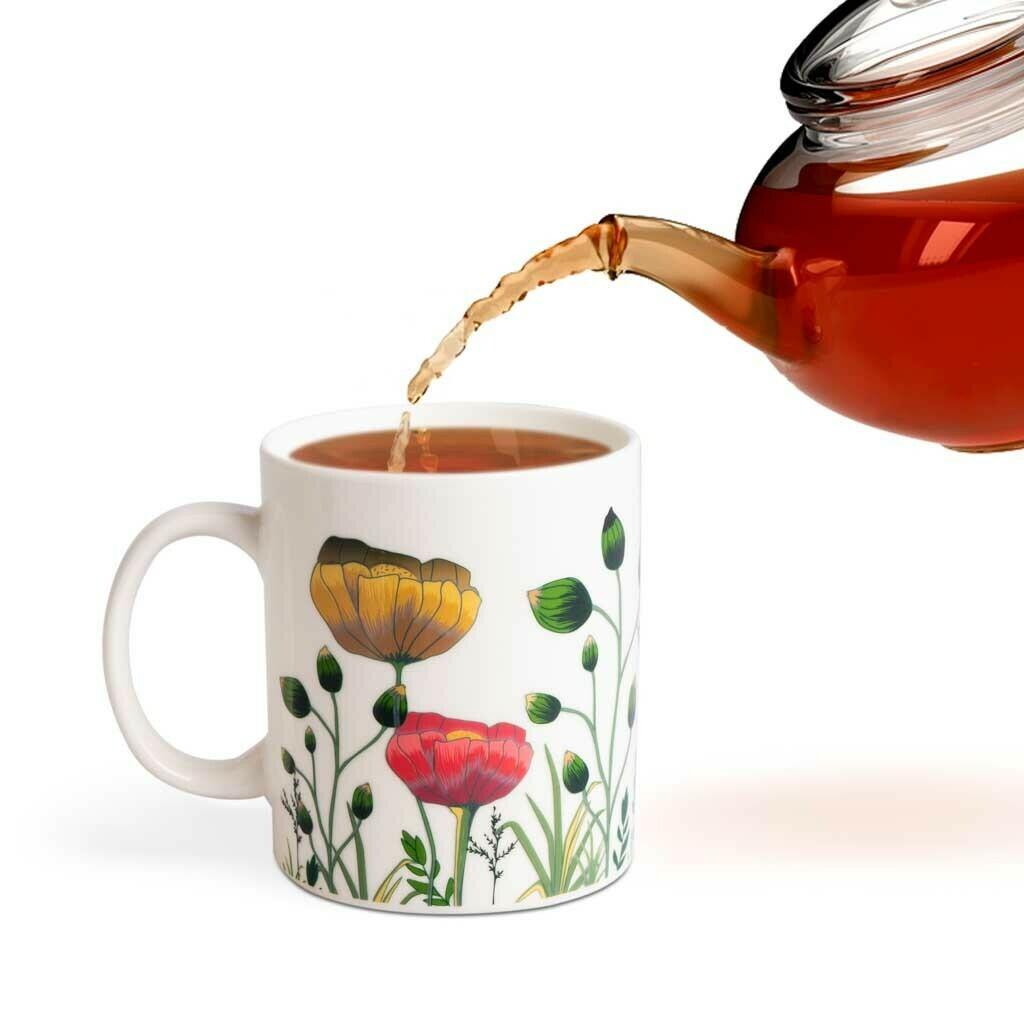Mug qui change avec la chaleur - Fleurs