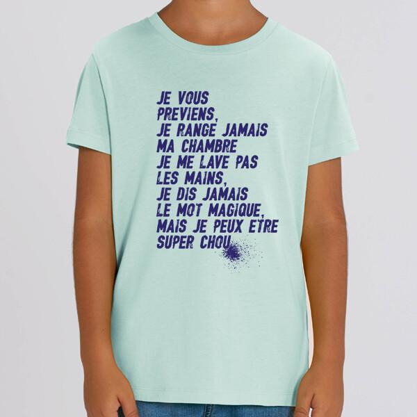 T-Shirt enfant je vous préviens