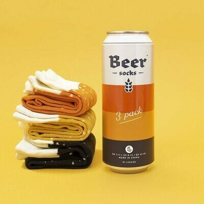 3 paires de chaussettes bière