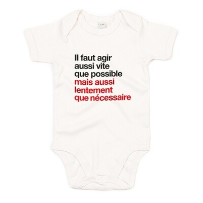 Body bébé Berset agir aussi vite que possible