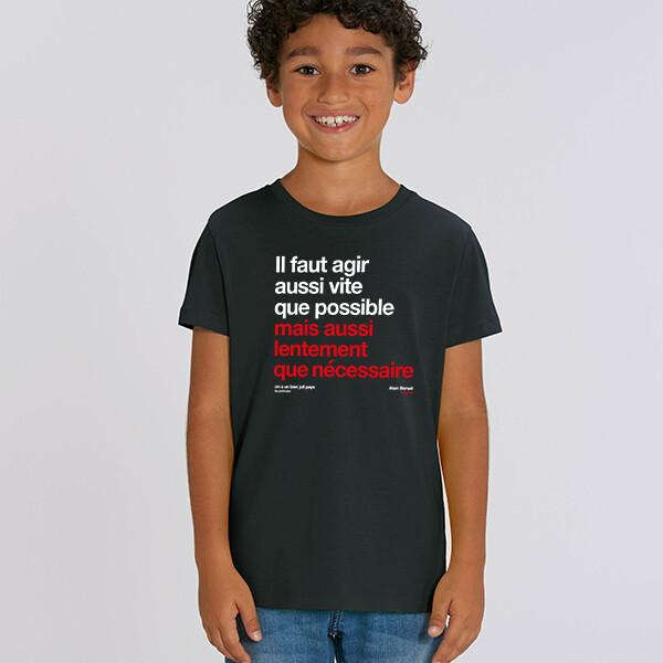 T-Shirt Particules enfant Berset agir aussi vite que possible ❤️