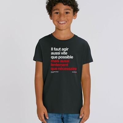 T-Shirt enfant Berset agir aussi vite que possible