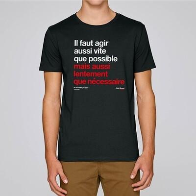 T-Shirt Homme Berset agir aussi vite que possible ❤️