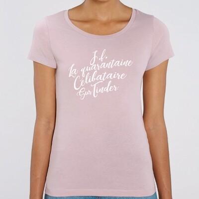 T-Shirt Femme jeune fille, célibataire, sur Tinder
