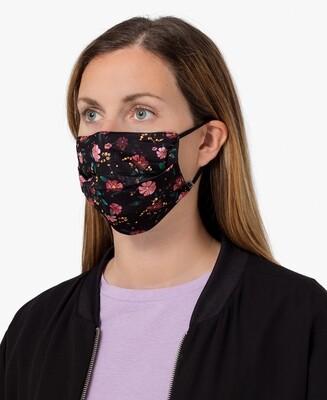 Masque Black Flowers