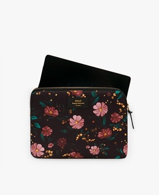 La fourre Ipad Black Flowers