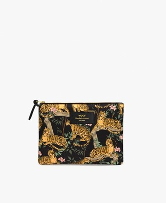 La pochette LARGE Black Lazy Jungle