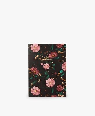 Le cahier A5 Black Flowers