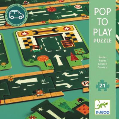 Puzzle route pour jouer avec ses petites voitures